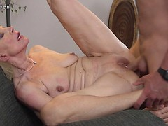 Horny mature lady fucking the guy next door