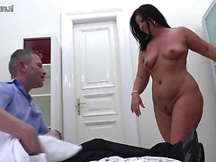 Horny housewife fucking and sucking her man